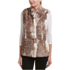 CAbi aspen faux fur vest M